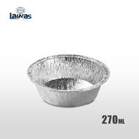 圆形5寸铝箔餐盘 270ml