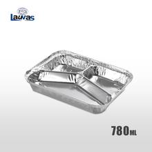 多格Y3格款铝箔餐盒 780ml
