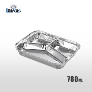 多格Y3格款鋁箔餐盒 780ml